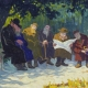 A painting by Moshe Rynecki