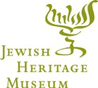 Jewish Heritage Museum sign with Jewish candlestick holder